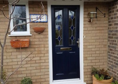 door navy blue