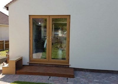 french doors golden oak
